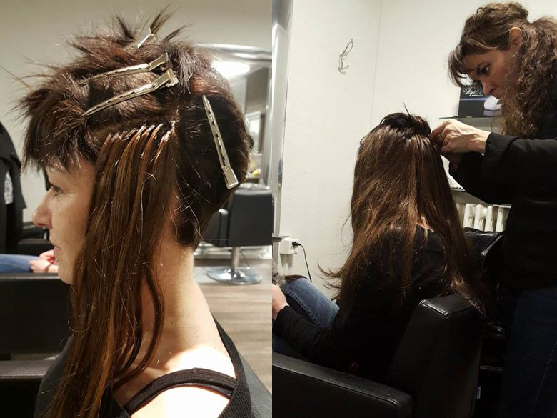 Hair extensions by BHI Hairstyle